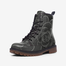 Load image into Gallery viewer, Charcoal Succulent Combat Boots