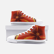 Load image into Gallery viewer, Red Hibiscus High Top Canvas Shoes
