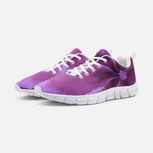 Load image into Gallery viewer, Fuchsia Hibiscus Athletic Sneakers