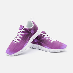 Fuchsia Hibiscus Athletic Sneakers