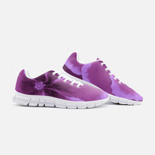 Load image into Gallery viewer, Fuchsia Hibiscus Unisex Athletic Sneakers