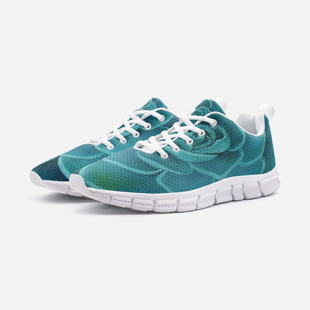 Teal Succulent Athletic Sneakers