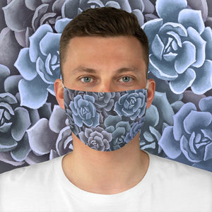 Blue Succulents Face Mask