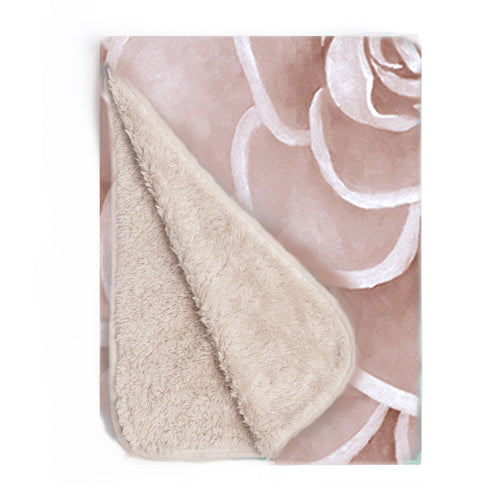 Blush infant sherpa blanket