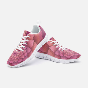 Magenta Succulent Athletic Sneakers