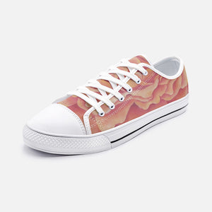 Tangerine Rose Low Top Canvas Shoes