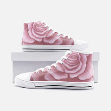 Load image into Gallery viewer, Pink Rose High Top Canvas Shoes
