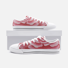 Load image into Gallery viewer, Coral Rose Low Top Canvas Shoes