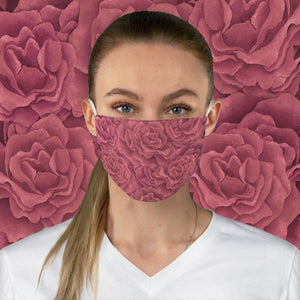 Coral Roses Face Mask