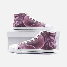 Load image into Gallery viewer, Mauve Orchid High Top Canvas Shoes
