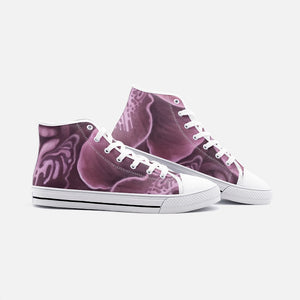 Mauve Orchid High Top Canvas Shoes
