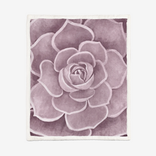 Load image into Gallery viewer, Light Pink Succulent Sherpa Blanket