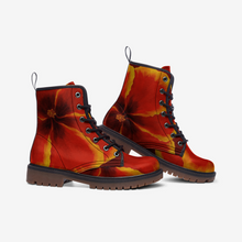 Load image into Gallery viewer, Red Hibiscus Combat Boots