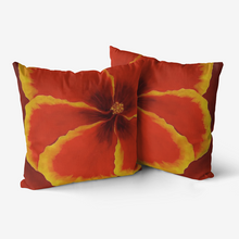 Load image into Gallery viewer, Red Hibiscus Throw Pillow
