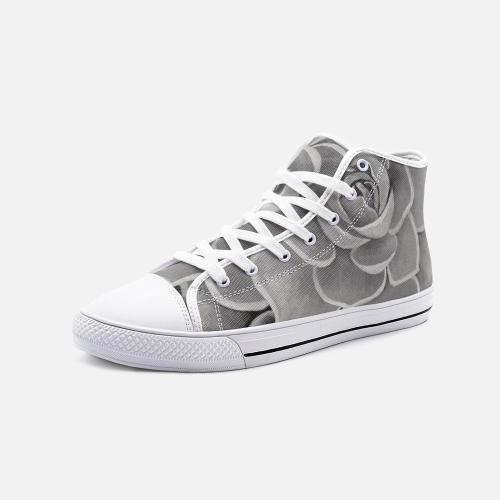 Grey High Top Canvas Shoes