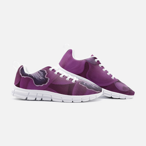 Fuchsia Orchid Unisex Athletic Sneakers