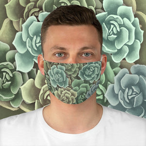 Green Succulents Face Mask