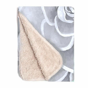 Grey infant sherpa blanket