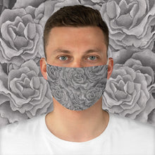 Load image into Gallery viewer, Grey Roses Face Mask