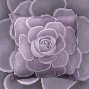 Lilac Succulent Throw Pillow