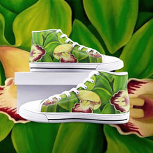 Load image into Gallery viewer, Lime Orchid High Top Canvas Shoes