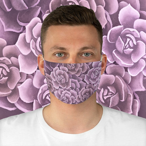Pink Succulents Face Mask