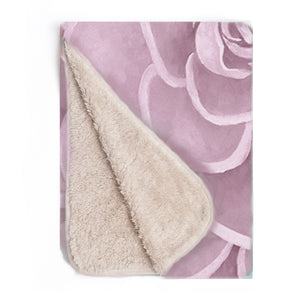 Pink infant sherpa blanket
