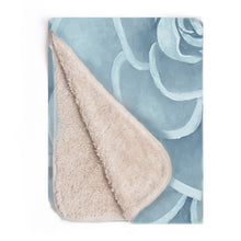 Load image into Gallery viewer, Powder Blue infant sherpa blanket