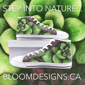 Succulent High Top Canvas Shoes