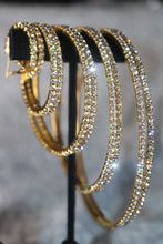 Load image into Gallery viewer, Golden Glam Hoop Earrings