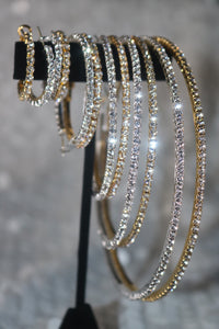 Golden Glam Hoop Earrings