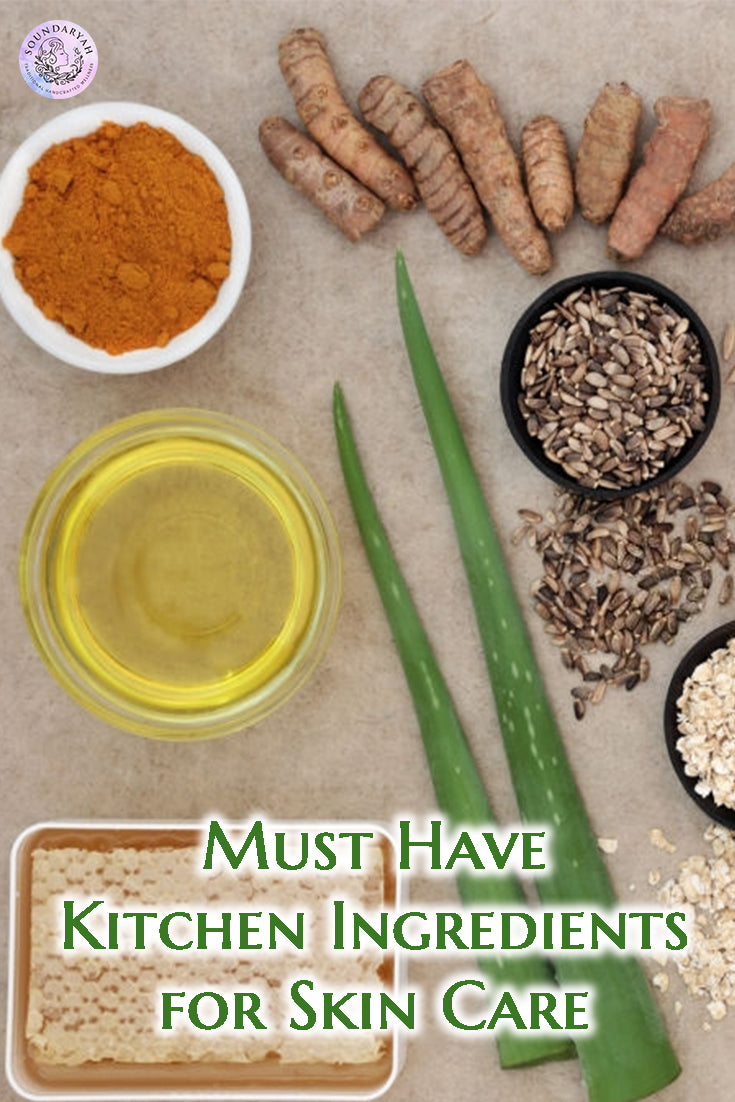 You don't need to look beyond your kitchen for the best skin! Just ensure you have these 12 Kitchen Ingredients for Skin Care stocked and you're all set!