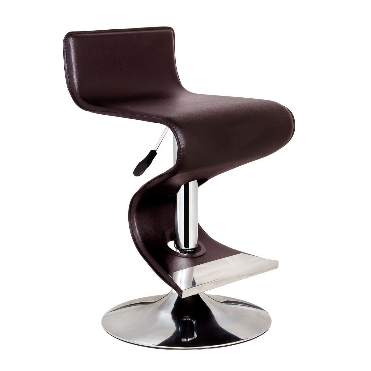Strange Bromi Design King Brown Adjustable Height Modern Bar Stool Caraccident5 Cool Chair Designs And Ideas Caraccident5Info