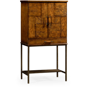Casually Country Collection Drinks Cabinet with Iron Base by Jonathan Charles Fine Furniture Bar Jonathan Charles Fine Furniture - Express Home Bars