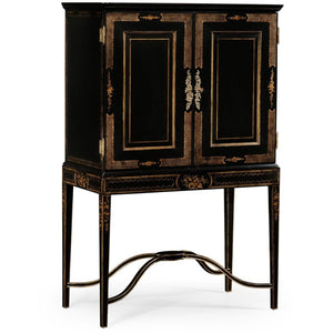 Kensington Collection Formal Black & Gold Drinks Cabinet by Jonathan Charles Fine Furniture bar cabinet Jonathan Charles Fine Furniture - Express Home Bars