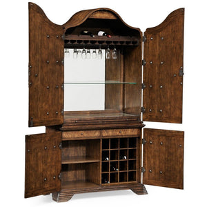 Country Farmhouse Collection Spanish Style Crotch Walnut Drinks Cabinet bar cabinet Jonathan Charles Fine Furniture - Express Home Bars