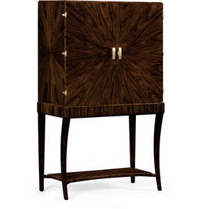 JC Modern - Ebony Collection - Art Deco Macassar Ebony High Lustre Drinks Cabinet bar cabinet Jonathan Charles Fine Furniture - Express Home Bars