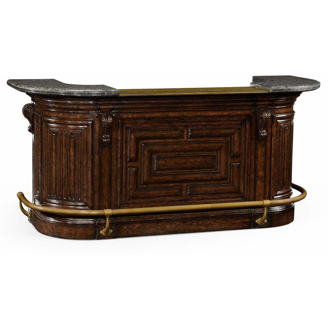 Linenfold Tudor Oak Home Bar by Jonathan Charles Fine Furniture Bar Jonathan Charles Fine Furniture - Express Home Bars