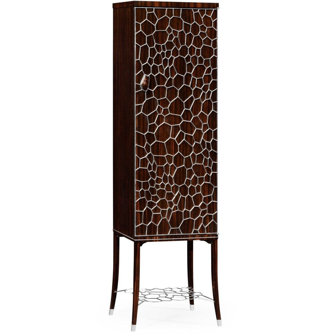 Macassar Ebony Drink Cabinet with White Brass Inlay by Jonathan Charles Fine Furniture bar cabinet Jonathan Charles Fine Furniture - Express Home Bars