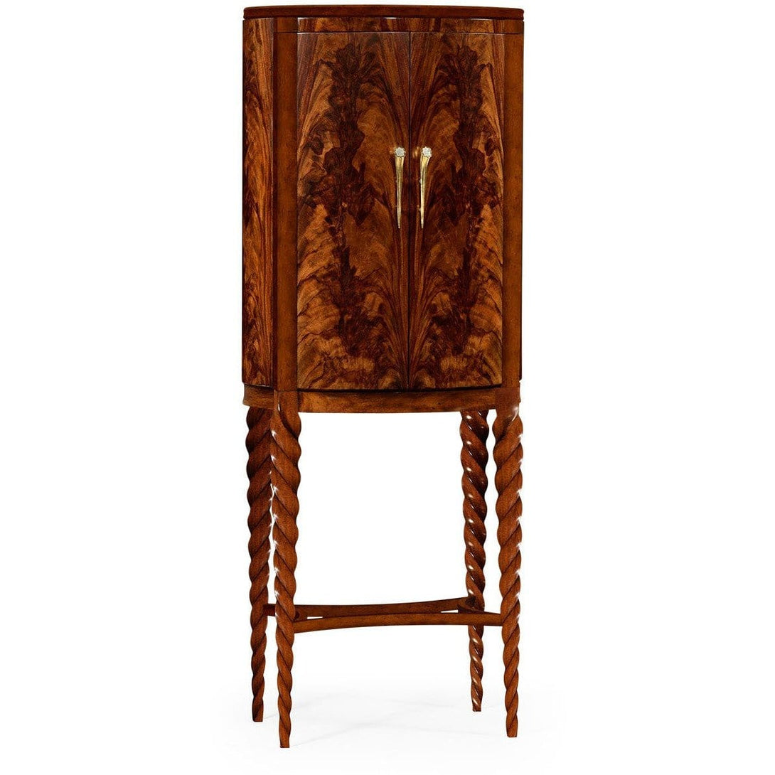 Walnut Barleytwist Drinks Cabinet by Jonathan Charles Fine Furniture bar cabinet Jonathan Charles Fine Furniture - Express Home Bars