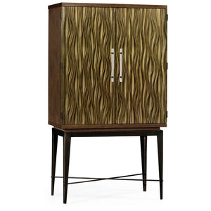 Textured Chestnut Drinks Cabinet by Jonathan Charles Fine Furniture bar cabinet Jonathan Charles Fine Furniture - Express Home Bars
