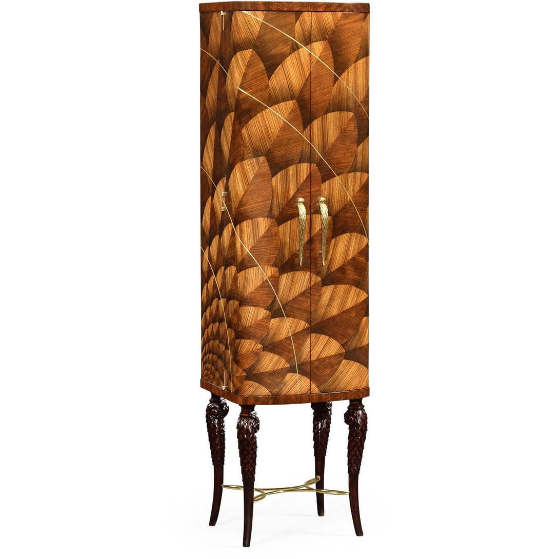 Feather Inlay Cocktail Cabinet by Jonathan Charles Fine Furniture bar cabinet Jonathan Charles Fine Furniture - Express Home Bars
