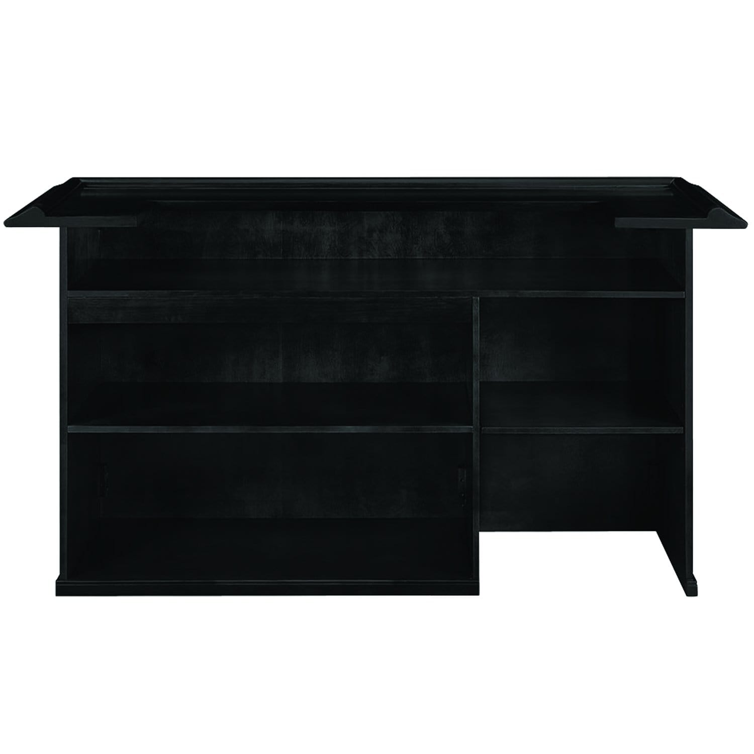 Ram Game Room 84 Rustic Wooden Home Bar With 4 Shelves Room For