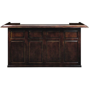 "Ram Game Room 84"" Rustic Wooden Home Bar with 4 Shelves & Room For Fridge Bar RAM Game Room - Express Home Bars"