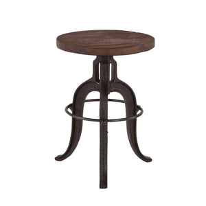 World Interiors Paxton Teak Wood Adjustable Height Bar Stool Bar Stool World Interiors - Express Home Bars