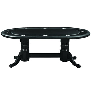 "RAM Gameroom 84"" Texas Hold'Em Poker Table with Dining Top Poker Table RAM Game Room - Express Home Bars"