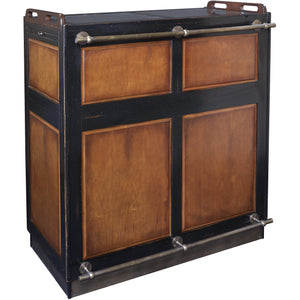 Authentic Models Casablanca Cherry Wood Mobile Vintage Style Bar Bar Authentic Models - Express Home Bars