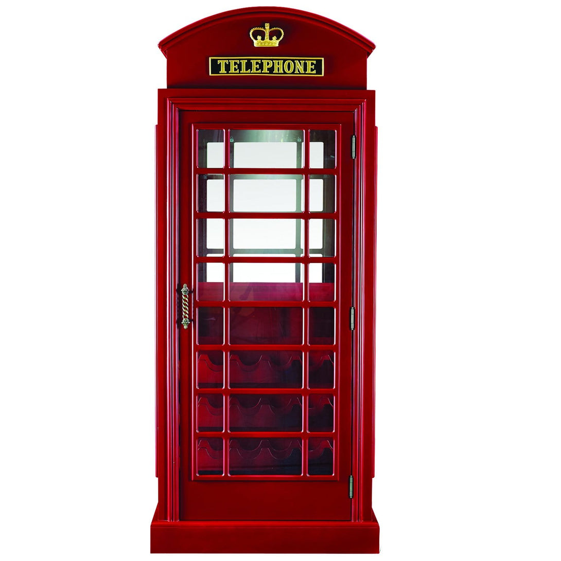 RAM Gameroom Old English Telephone Booth Bar Cabinet Bar RAM Game Room - Express Home Bars