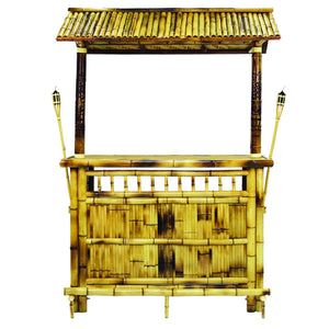 "RAM Gameroom 60"" Bamboo Tiki Bar Bar RAM Game Room - Express Home Bars"