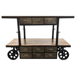 Mango and Iron Cart by Yosemite Home Decor bar cart Yosemite Home Decor - Express Home Bars